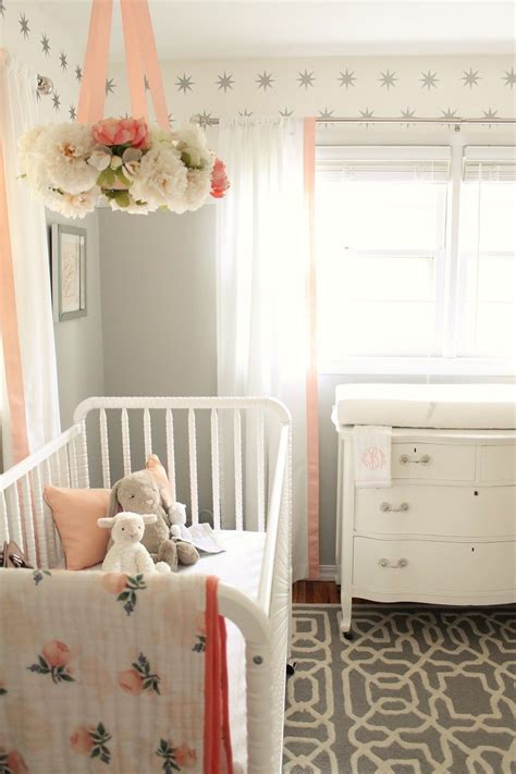 pink lind krippe and gray nursery reveal kinderzimmer babyzimmer