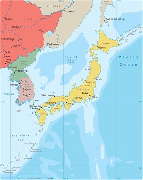 asia sea map political map of east asia