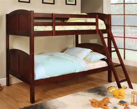 solid wood bunk beds twin over twin twin over twin rexford cherry solid wood bunk bed