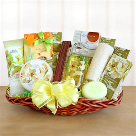 Spa Gifts - orchid home spa gift basket 7349 at print ez
