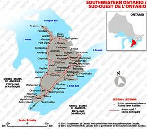 map of southwestern ontario canada the federation of ontario bed and breakfast accommodation