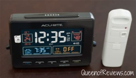 acurite atomic clock with dual alarm usb charger and temperature of reviews