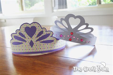 How To Make A Paper Princess Crown - paper princess tiaras the craft