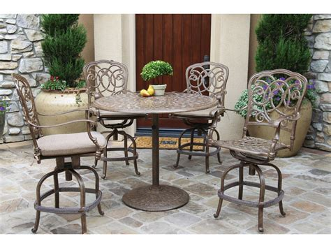 Darlee Outdoor Living Series 60 Cast Aluminum 42 Round Counter Height Patio Table