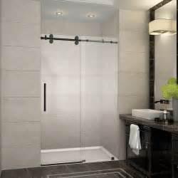 48 Frameless Sliding Shower Door Aston Langham 75 Quot X 48 Quot Completely Frameless Frameless Sliding Shower Door Wayfair