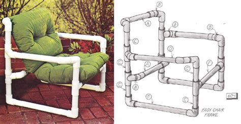 pvc pipe patio furniture easy to make furniture sunset diy manual from the 1970s