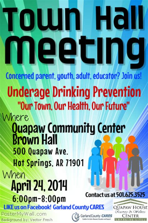 Gccares Town Hall Meeting Flyer Postermywall Meeting Poster Template