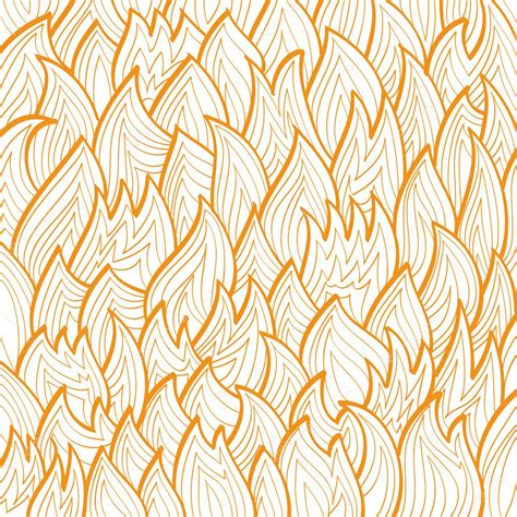 pattern drawing illustrator linear drawing of the orange fire pattern stock vector
