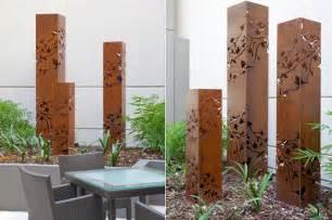 backyard garden sculptures metal contemporary