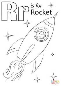 Letter R Is For Rocket Coloring Page Free Printable Letter R Coloring Pages