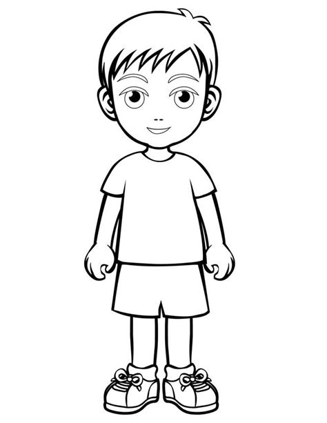 Printable Boy Coloring Pages Coloring Me Boy And Coloring Page Printable