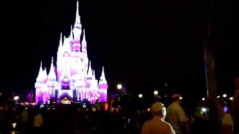 magic kingdom lights magic kingdom cinderella castle lights