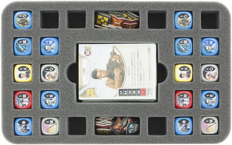 Half Com Gift Card - hs030de02 half size foam tray for 24 star wars destiny dice 35 cards and token games