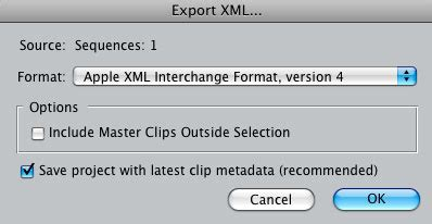 final cut pro quit unexpectedly during export fixing assets in fcp using xml apple final cut pro