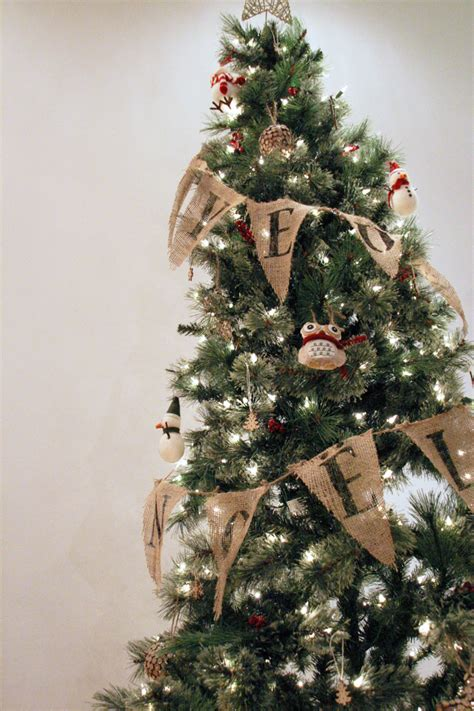 holidiy christmas tree burlap bunting garland with