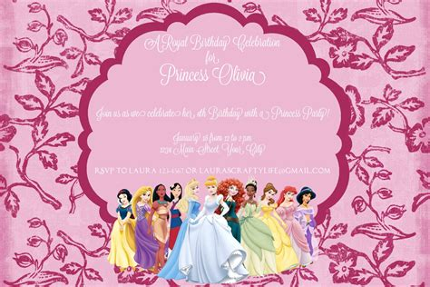 princess invites free templates princess dress invitation templates