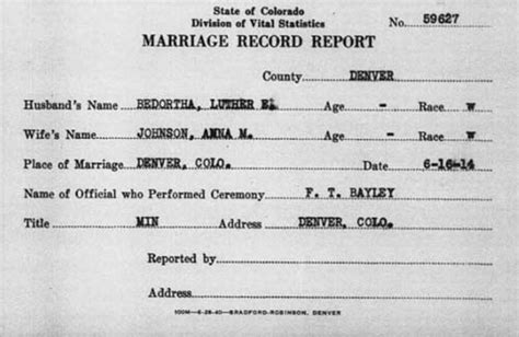 Colorado Marriage Records Search All American