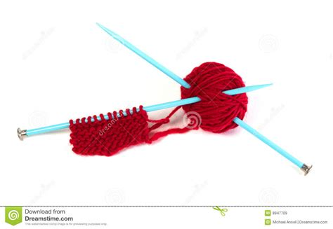 how to take yarn knitting needles yarn and needles and knitting royalty free stock images