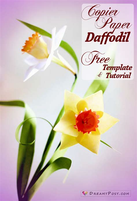 Template Of A Daffodil by How To Make Paper Daffodil Flower Out Of Printer Paper