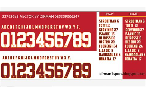 Jersey As Roma Home 1415 4nainggolan dirman1sport font as roma 1415