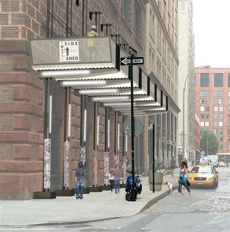 Sidewalk Shed Nyc by Four Winners Named In Nyc Sidewalk Shed Competition