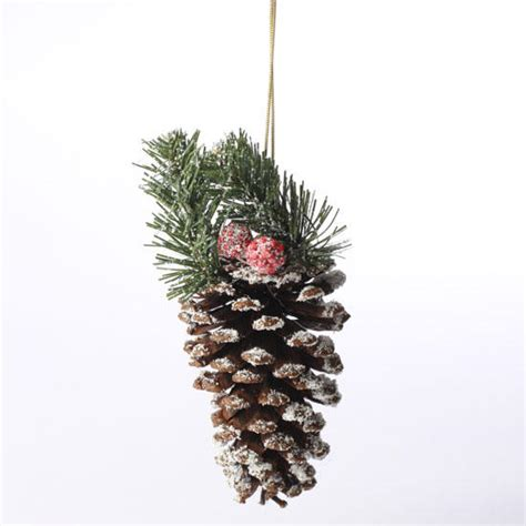 snowy woodland pinecone ornament christmas ornaments