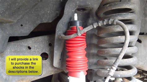 how to install replace rear shocks 2007 13 chevy silverado how to replace the front shocks on a ford f250 350 youtube