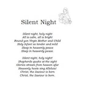 View and print the quot christmas carol lyrics silent night quot activity