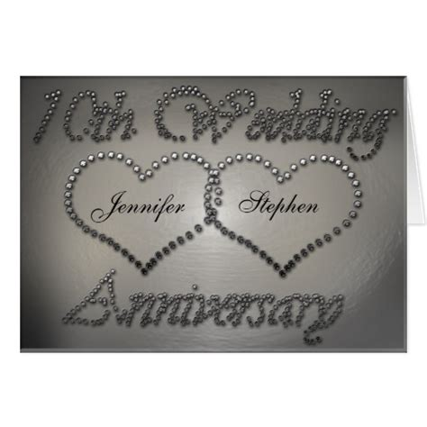 punched tin 10th wedding anniversary card zazzle