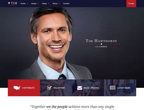 15 Best Political Wordpress Themes 2018 Athemes Political Caign Website Templates Free