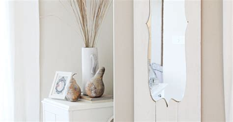 turn a cheap door mirror into a shabby chic dream hometalk