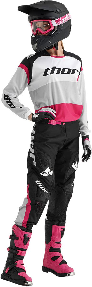womens thor motocross gear thor new 2016 ladies mx phase bonnie black white pink