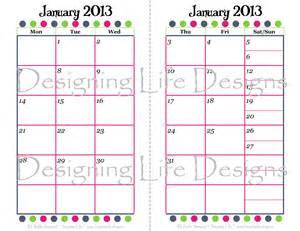 calendar template 2 months per page best photos of 2013 12 month calendar template 2013
