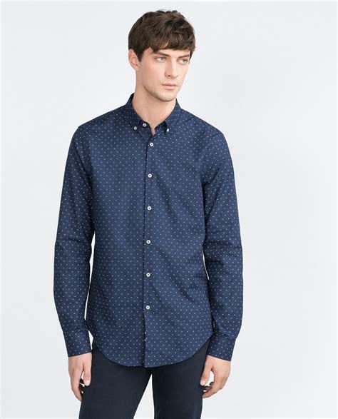 Zara Shirt 2 zara oxford shirt in blue for lyst