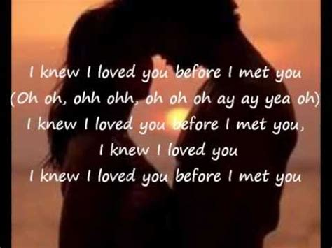 I Knew I Loved You By Savage Garden by I Knew I Loved You Before I Met You I Th By Savage Garden Like Success