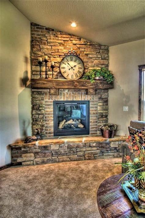 brick fireplace beautiful house   wall clock brick