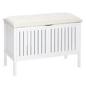 banc coffre 224 linge en bois olso blanc 21856100 achat