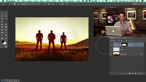 how to add lens flare to your image in photoshop lensvid