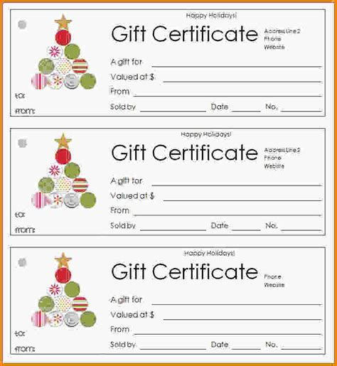 doc 520390 free holiday gift certificate templates