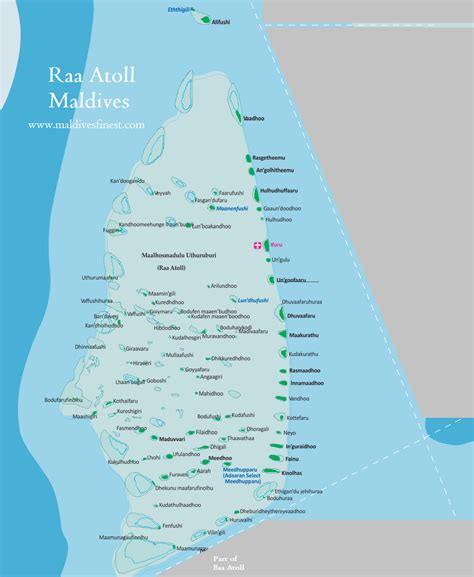 Building Blue Prints islands of raa atoll with map maldives map org