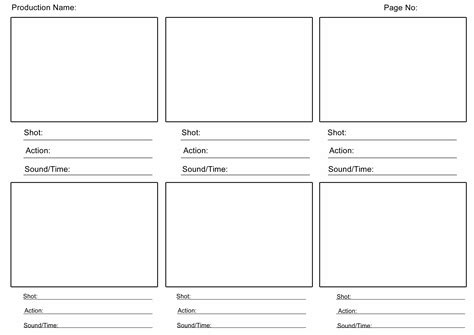 Story Board Template   doliquid