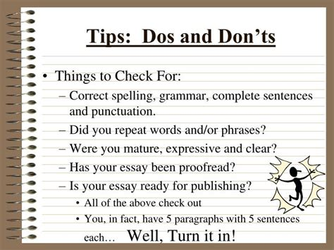 Dos And Don Ts Of Essay Writing by Ppt The Five Paragraph Essay Powerpoint Presentation Id 889756