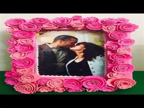 como hacer marcos con foamis imagenes cuadro o marco decorado con flores de foamy goma eva youtube