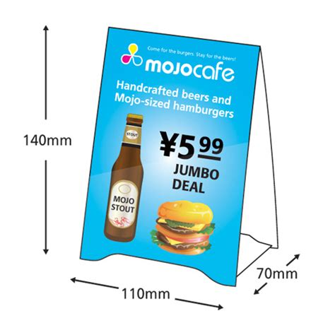 a4 tent card template table tent matt mojoprint jp