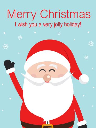 jolly cheer santa merry christmas card birthday greeting cards  davia