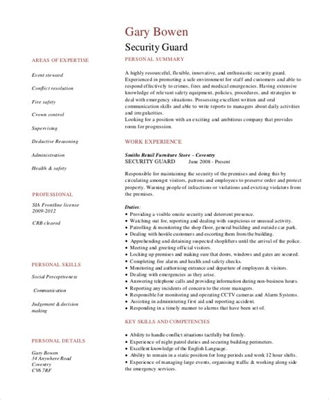 7 security guard descriptions free sle exle format free premium templates