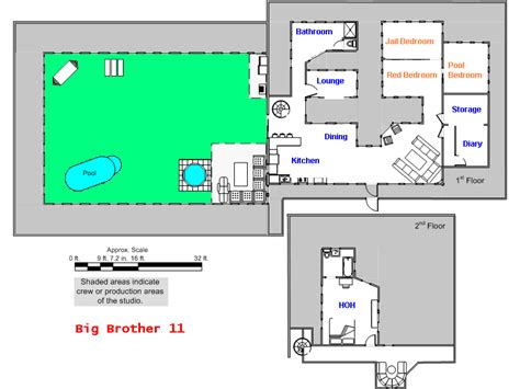 floor plan of big brother house house next door highlighted pinoy big brother floor plan