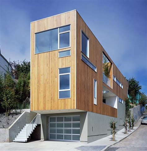 Narrow Modern Homes | narrow home designs slim tall and eco friendly in san francisco modern house designs