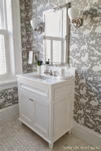 Bathroom Wallpaper Marble Thibaut Nairobi Wallpaper Transitional Bathroom