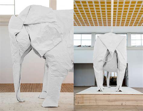 White Elephant Origami - artist sipho mabona successfully folds sized origami